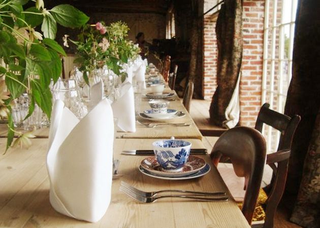 Banquet dining at The Goods Shed Restaurant, Canterbury, Kent