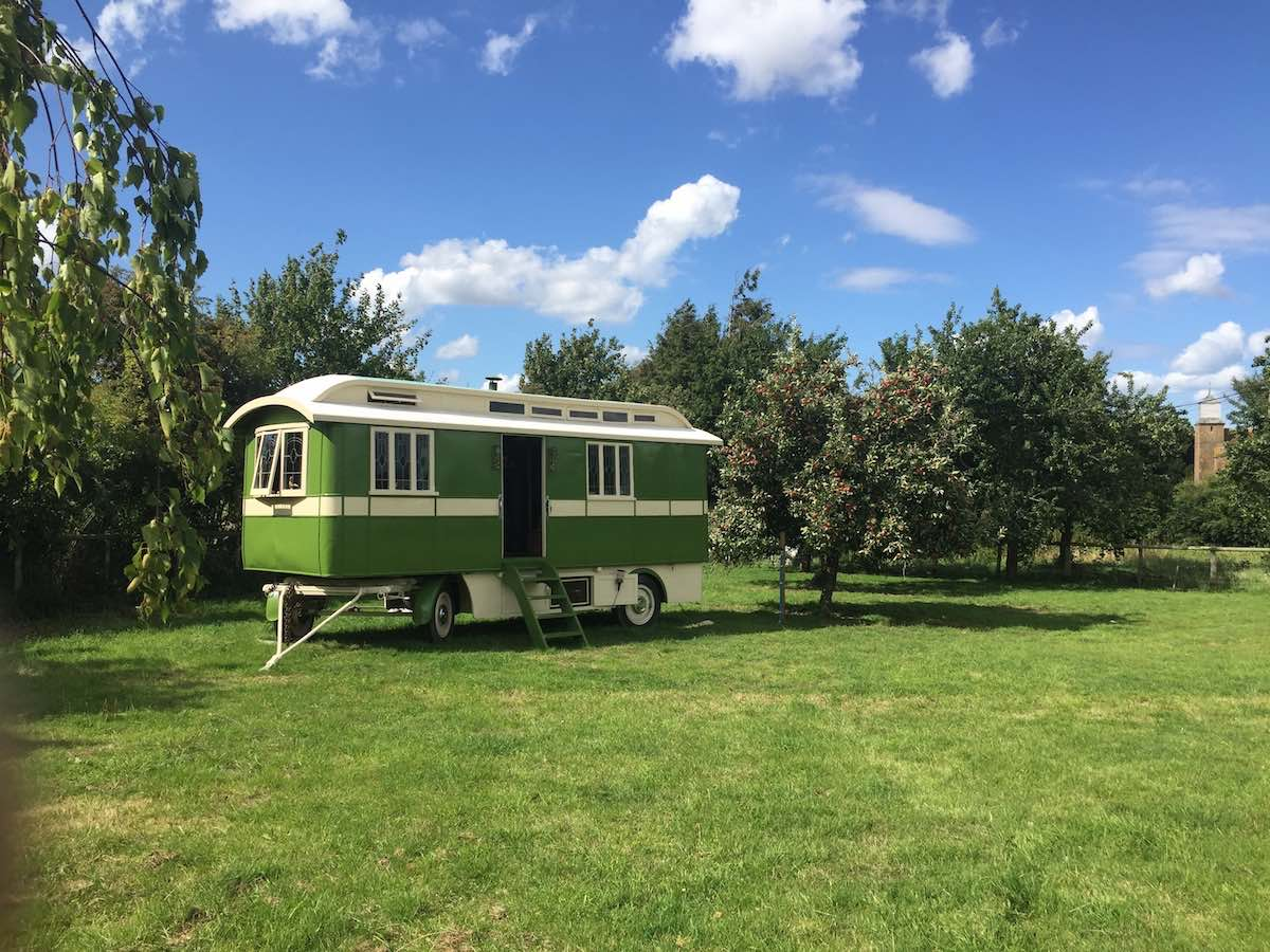 Showmans Wagon in Kent countryside