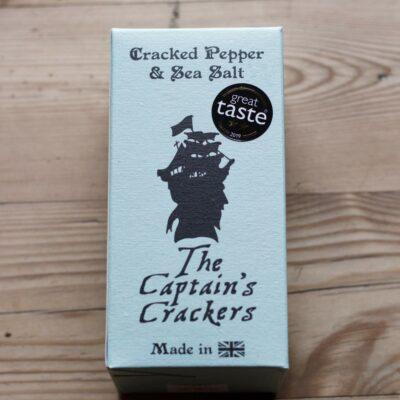 Captains Crackers Cracked Pepper Sea Salt