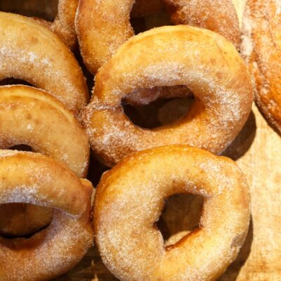 Freshly Homemade Ring Doughnuts