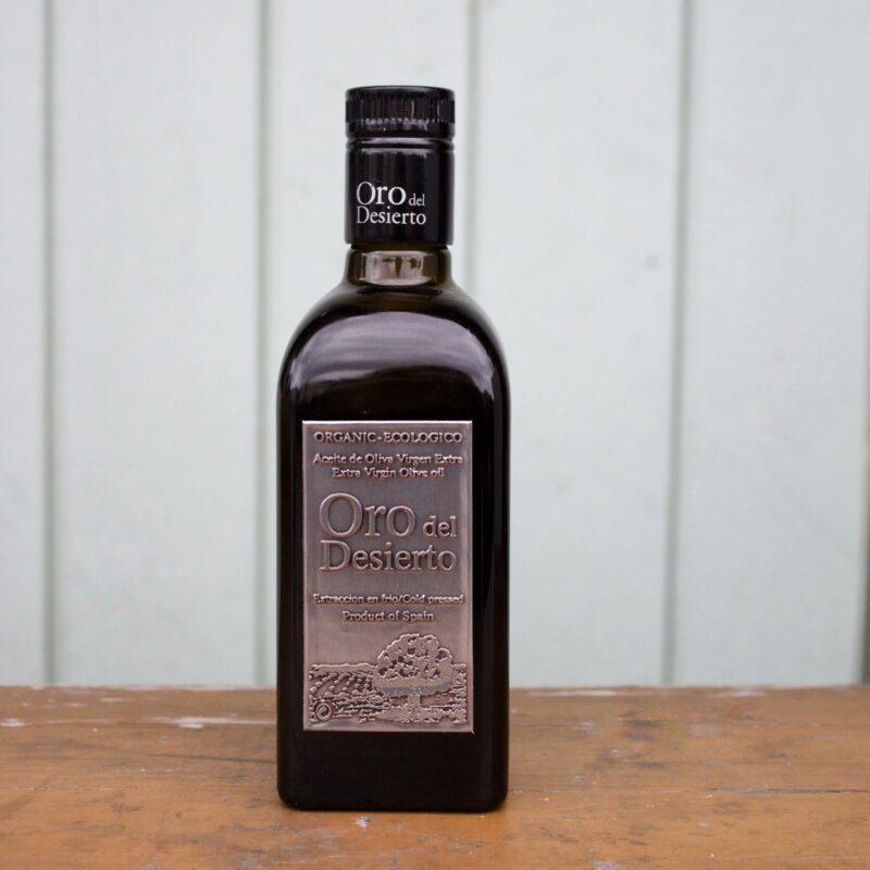Oro Del Desierto Extra Vigrin Olive Oli Bottle