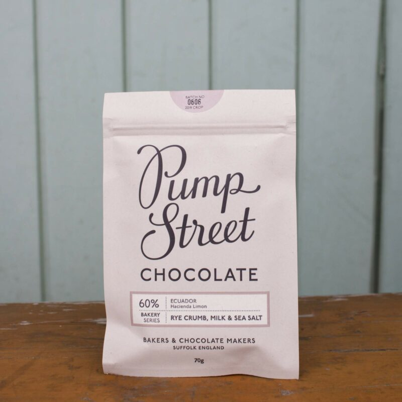 Pump Street 60percent Rye Crumb Milk And Sea Salt Chocolate Bar