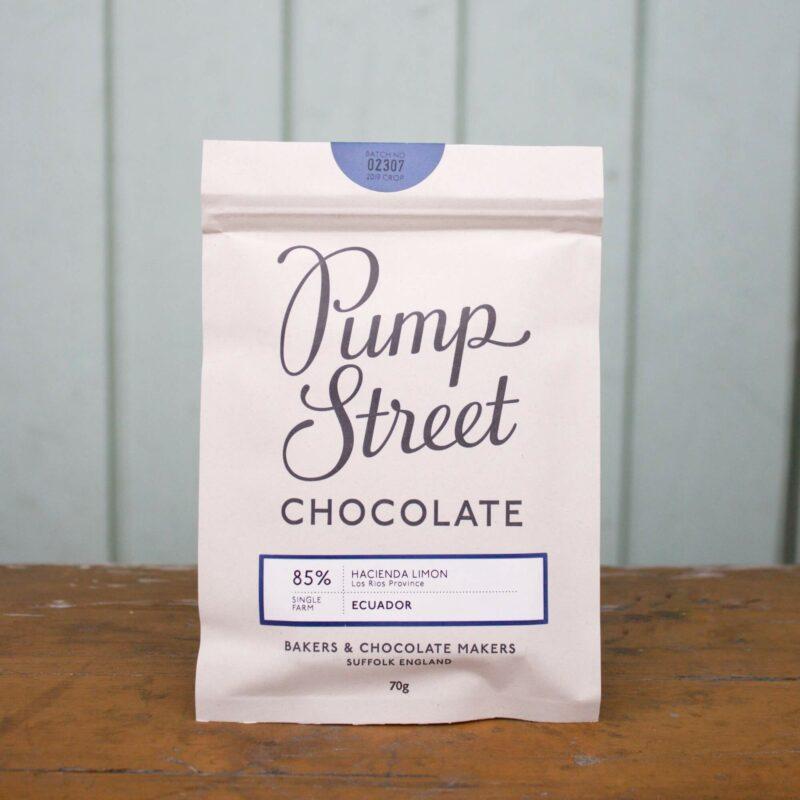 Pump Street 85percent Equadorian Dark Milk Chocolate Bar