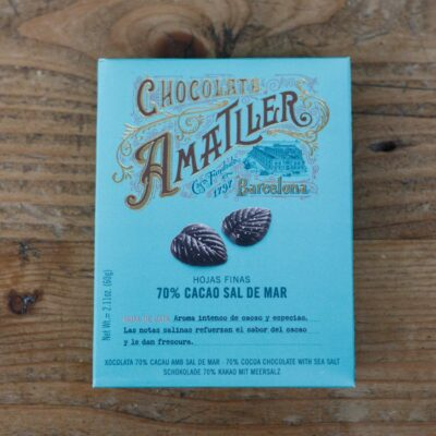 70 Percent Salted Chocolate Leaves Box