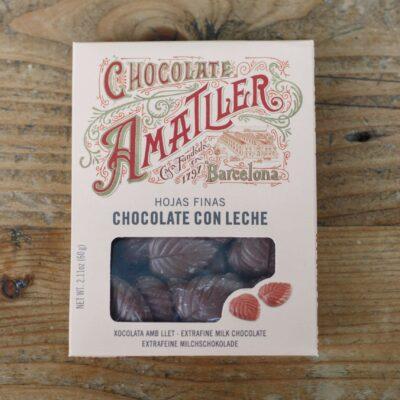 Milk Chocolate Leaves Box