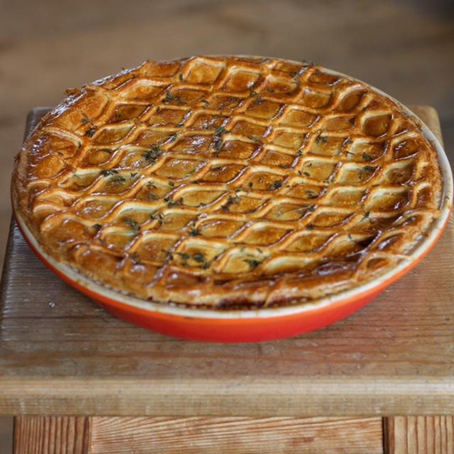 Chicken Ham Leek Pie