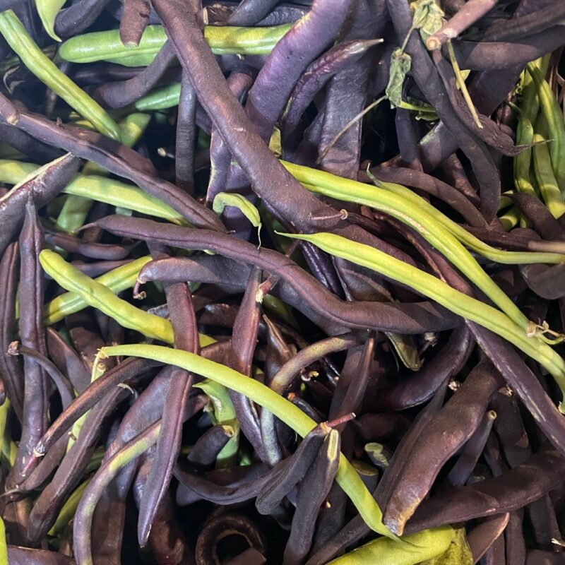 Purple And Green Beans